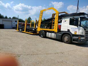 شاحنة نقل السيارات SCANIA Eurolohr + العربات المقطورة شاحنة نقل السيارات