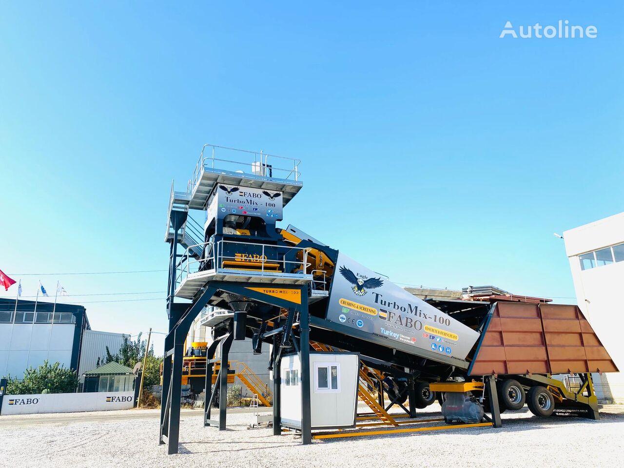 جديد ماكينة صناعة الخرسانة FABO TURBOMIX-100 Mobile Concrete Batching Plant