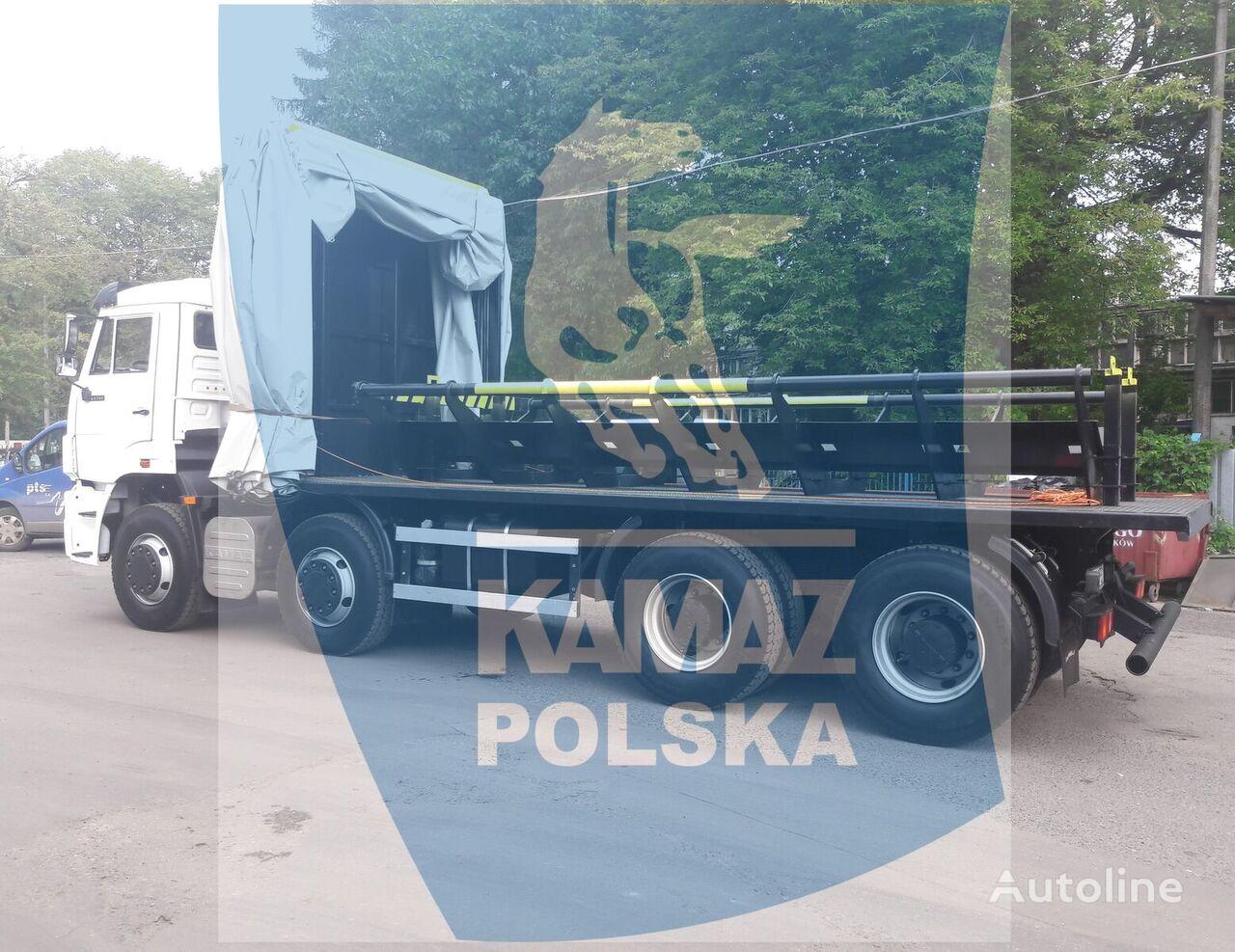 جديدة عربة مقطورة مسطحة KAMAZ 8x4 for transporting steel coils