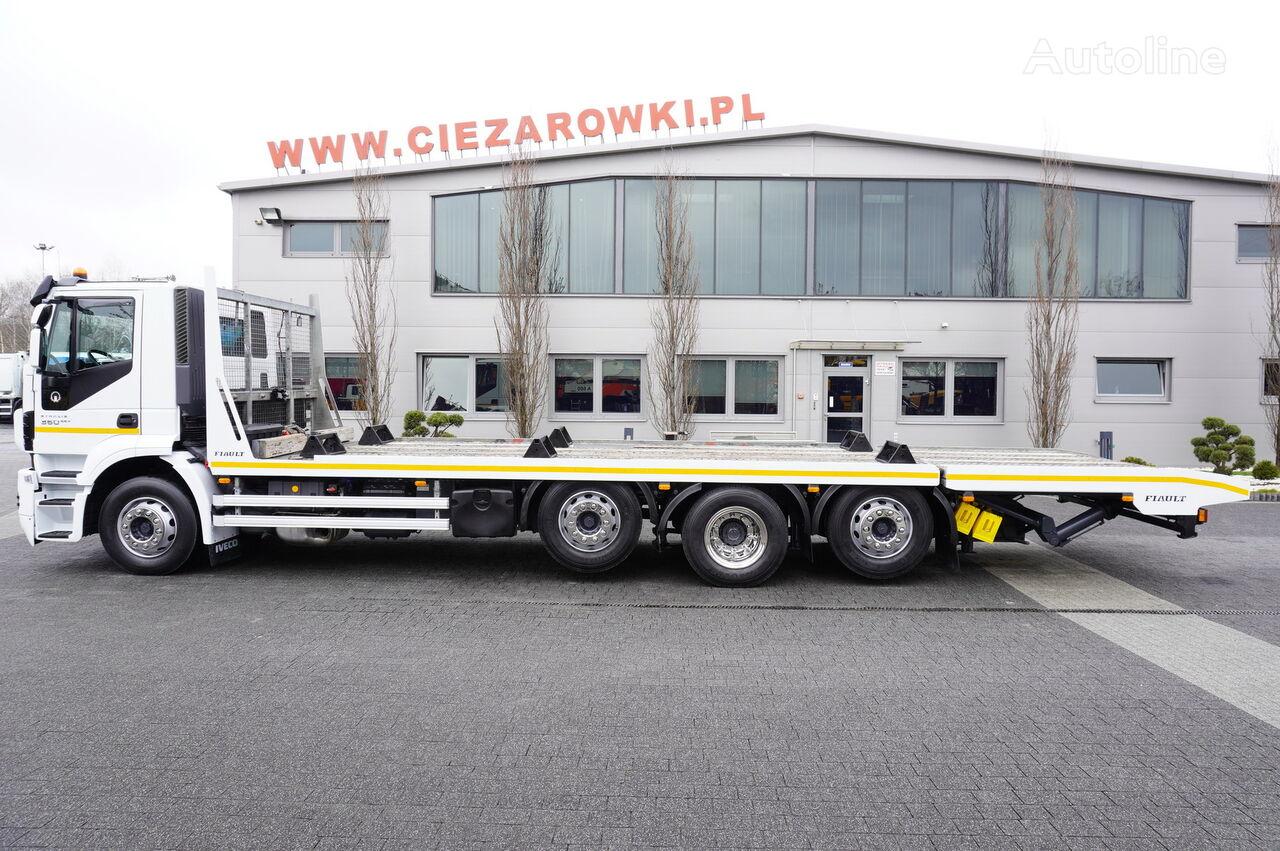 سحب شاحنة IVECO Stralis 360 , EEV , 8X2 , tridem , load 17t , 8,8m long , retard