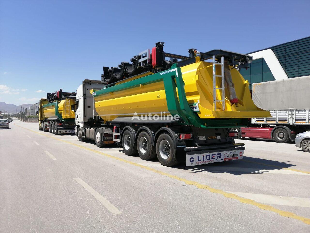 جديدة العربات نصف المقطورة شاحنة قلابة LIDER 2021 NEW DIRECTLY FROM MANUFACTURER STOCKS READY IN STOCKS