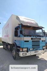 شاحنة مقفلة SCANIA P82 H left hand drive 6X2 24 ton detachable box body