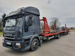 شاحنة نقل السيارات IVECO Eurocargo 140E28 + العربات المقطورة شاحنة نقل السيارات