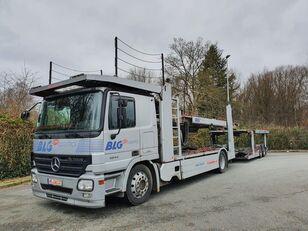 شاحنة نقل السيارات MERCEDES-BENZ Actros 1844 Austausch Motor ca 500000 + العربات المقطورة شاحنة نقل السيارات