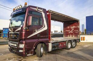 شاحنة ذات أغطية جانبية MAN TGX 26.480 XXL 6X2-4 ( gestuurd/Dir./steering/gelenkt)