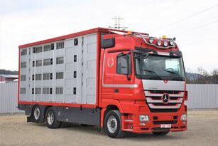 شاحنة نقل المواشي MERCEDES-BENZ ACTROS 2548 TIERTRANSPORTWAGEN 7,40m / 3STOCK