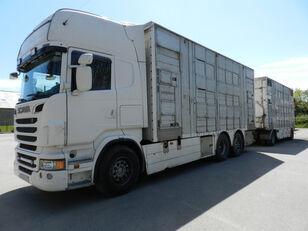 شاحنة نقل المواشي SCANIA R560 + العربات المقطورة شاحنة نقل المواشي