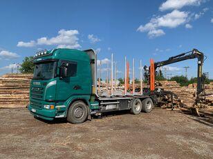شاحنة نقل الأخشاب SCANIA G480 KRAN KESLA 2009SI