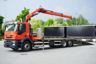 سحب شاحنة IVECO Stralis 360, EEV, 6x2, 7.8m tow truck, lift axle , CRANE HIAB ma